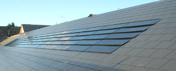 Solar Pv Installed Amp Inset Into A Slate Roof