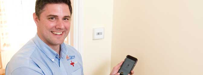 engineer with smart heating control